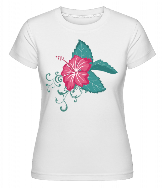 Flower Comic -  Shirtinator Women's T-Shirt - White - Vorn