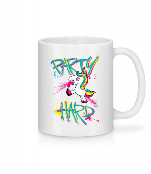 Party Hard Unicorn - Mug - White - Vorn