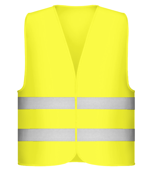 Safety Vest - Neon yellow - Vorn