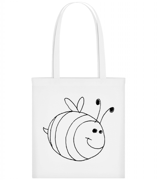 Kids Comic - Bee - Carrier Bag - White - Vorn