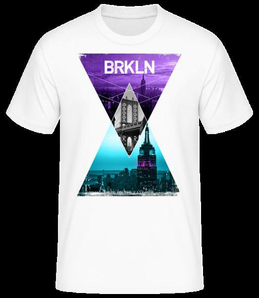 Brooklyn - Men's Basic T-Shirt - White - Vorn