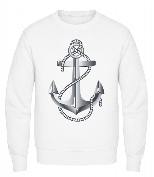 Anchor Rope Comic Silver - Classic Set-In Sweatshirt - White - Vorn
