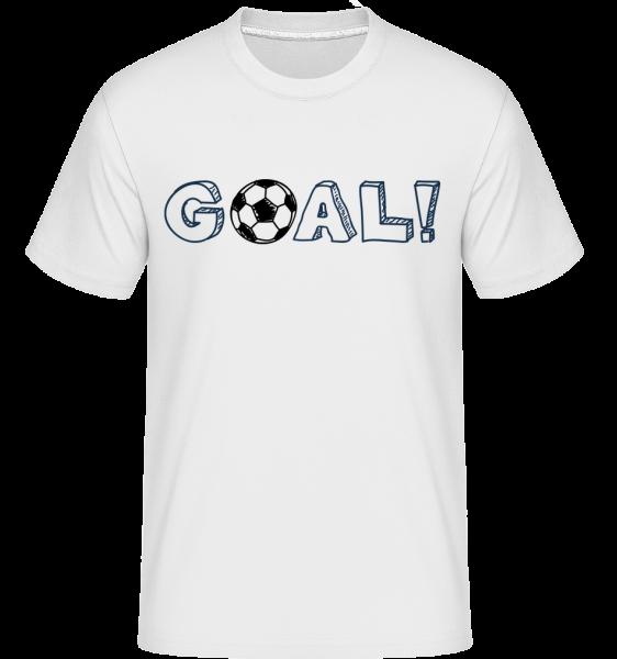 Football Goal Logo -  Shirtinator Men's T-Shirt - White - Vorn