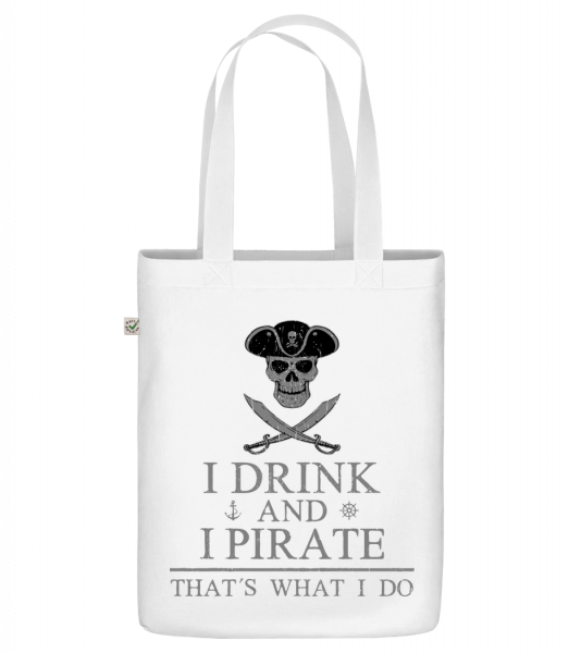 "I Drink And I Pirate - Organic ""Earth Positive"" tote bag - White - Vorn"