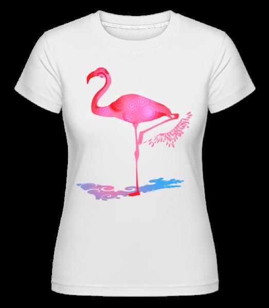 Flamingo -  Shirtinator Women's T-Shirt - White - Vorn