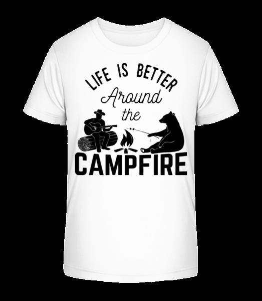 Around The Campfire - Kid's Premium Bio T-Shirt - White - Vorn