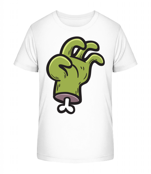 Zombie's Hand - Kid's Premium Bio T-Shirt - White - Vorn