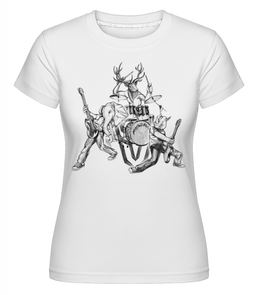 Wild Band -  Shirtinator Women's T-Shirt - White - Vorn