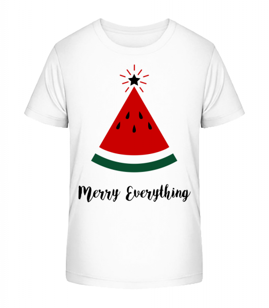 Merry Everything Christmas - Kid's Premium Bio T-Shirt - White - Vorn