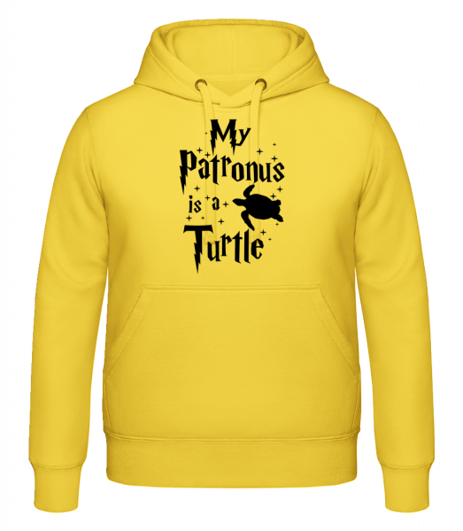 My Patronus Is A Turtle - Hoodie - Yellow - Vorn