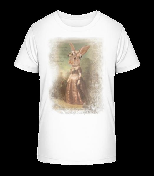 Painting Bunny - Kid's Premium Bio T-Shirt - White - Vorn