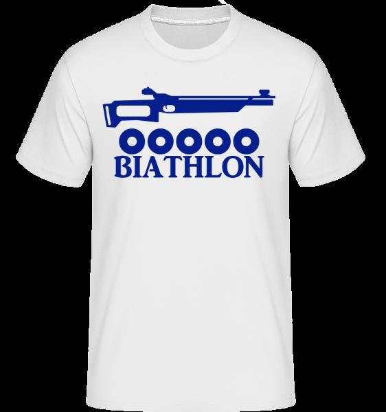 Biathlon Icon Blue - Shirtinator Men's T-Shirt - White - Vorn