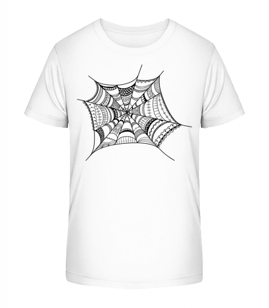 Spider Web - Kid's Premium Bio T-Shirt - White - Vorn