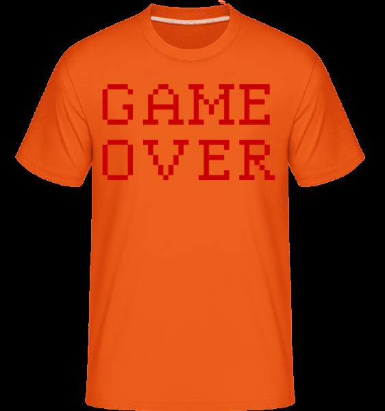 Game Over Pixel -  Shirtinator Men's T-Shirt - Orange - Vorn