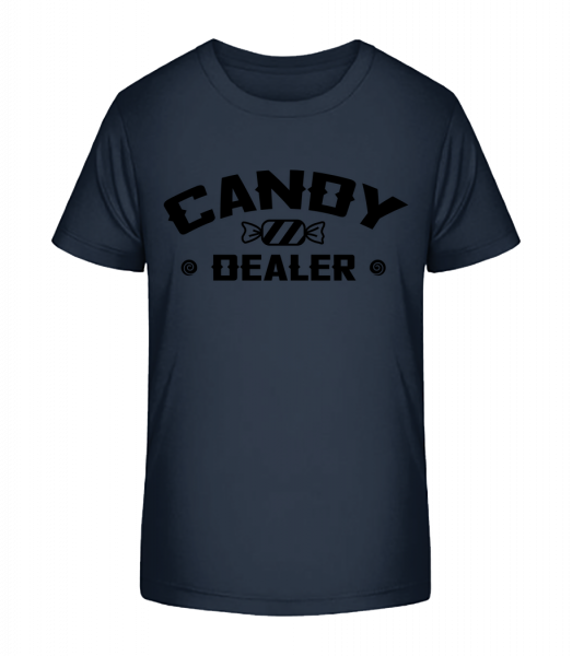 Candy Dealer - Kid's Premium Bio T-Shirt - Navy - Vorn