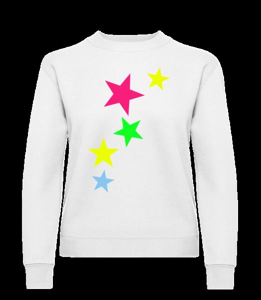 Colorful Stars - Classic Ladies' Set-In Sweatshirt - White - Vorn