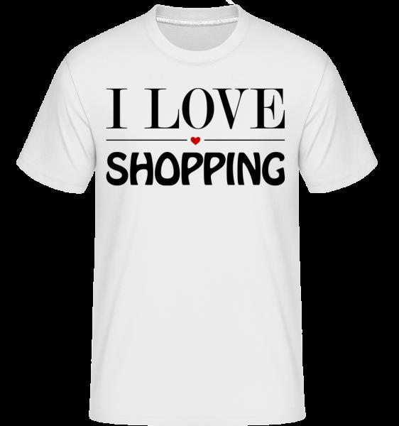 I Love Shopping - Shirtinator Men's T-Shirt - White - Vorn