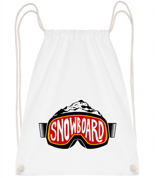 Snowboarding Logo - Drawstring Backpack - White - Vorn