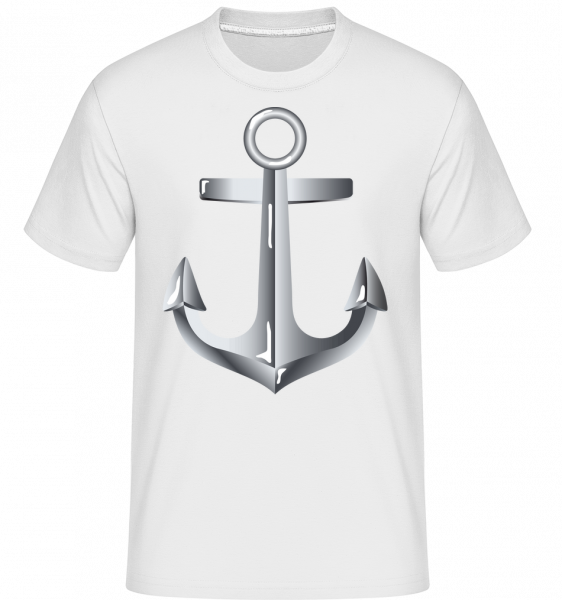Anchor Comic Silver -  Shirtinator Men's T-Shirt - White - Vorn