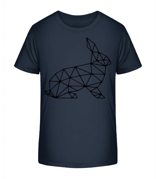 Polygon Rabbit - Kid's Premium Bio T-Shirt - Navy - Vorn