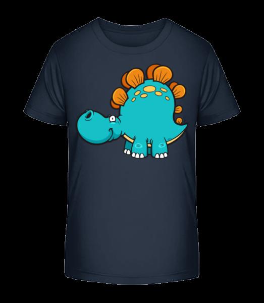 Comic Diplodocus - Kid's Premium Bio T-Shirt - Navy - Vorn