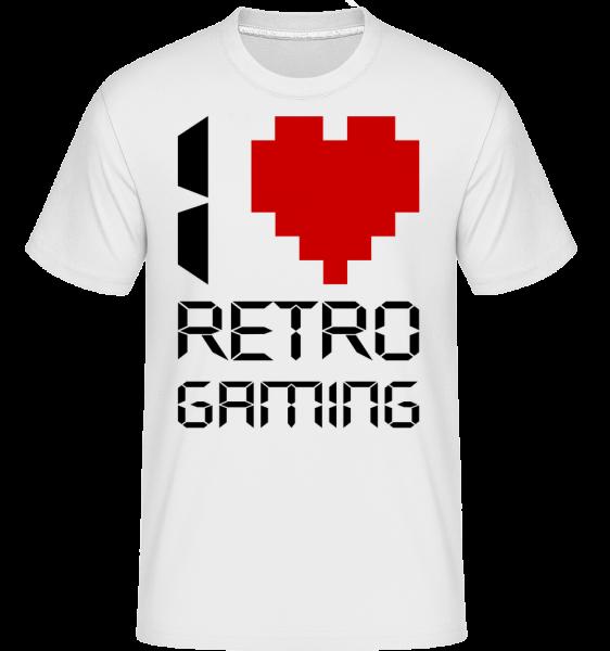 I Love Retro Gaming -  Shirtinator Men's T-Shirt - White - Vorn