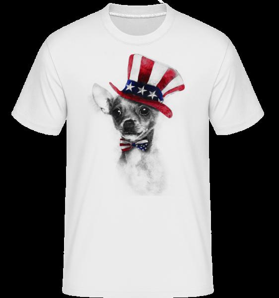 USA Chihuahua -  Shirtinator Men's T-Shirt - White - Vorn