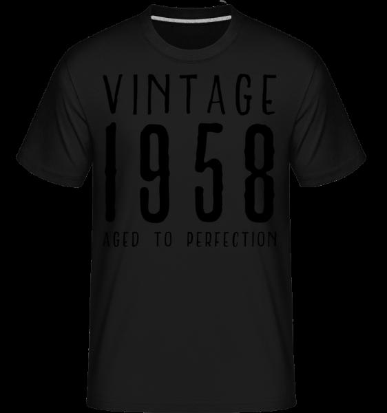 Vintage 1958 Aged To Perfection -  Shirtinator Men's T-Shirt - Black - Vorn