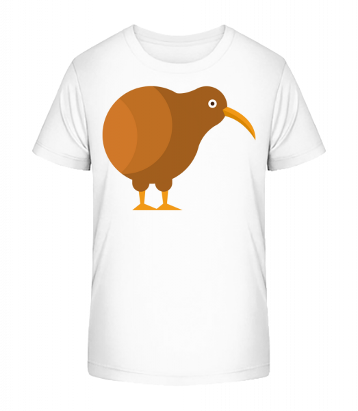 Kiwi Comic - Kid's Premium Bio T-Shirt - White - Vorn