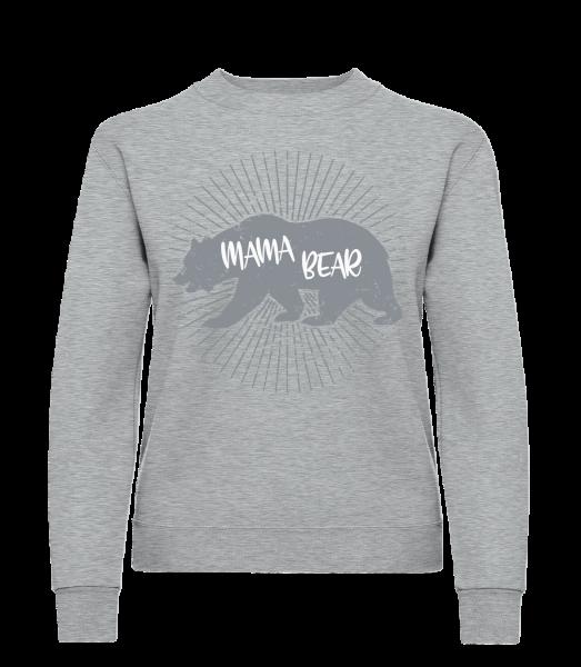 Mama Bear - Classic Ladies' Set-In Sweatshirt - Heather Grey - Vorn