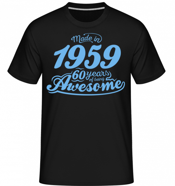 Made In 1959 60 Years Awesome -  Shirtinator Men's T-Shirt - Black - Vorn