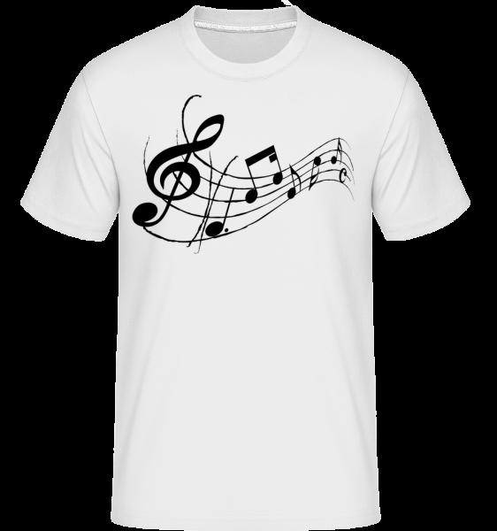 Music Notes Black -  Shirtinator Men's T-Shirt - White - Vorn