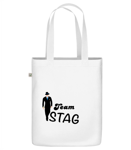 """Team Stag - Organic """"Earth Positive"""" tote bag - White - Vorn"""