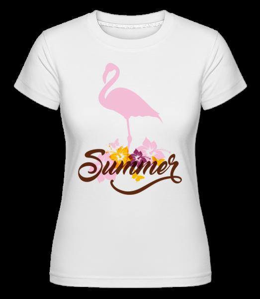 Summer Flamingo - Shirtinator Women's T-Shirt - White - Vorn