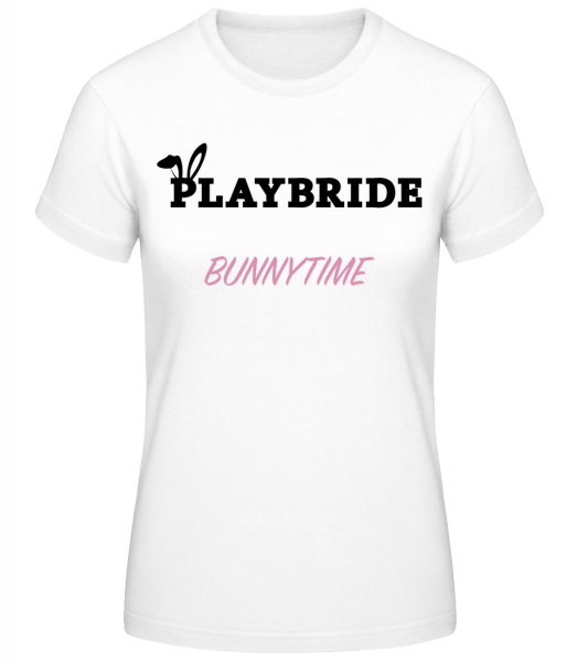 Playbride Bunnytime - Women's Basic T-Shirt - White - Vorn