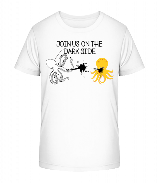 Join The Dark Side - Kid's Premium Bio T-Shirt - White - Vorn