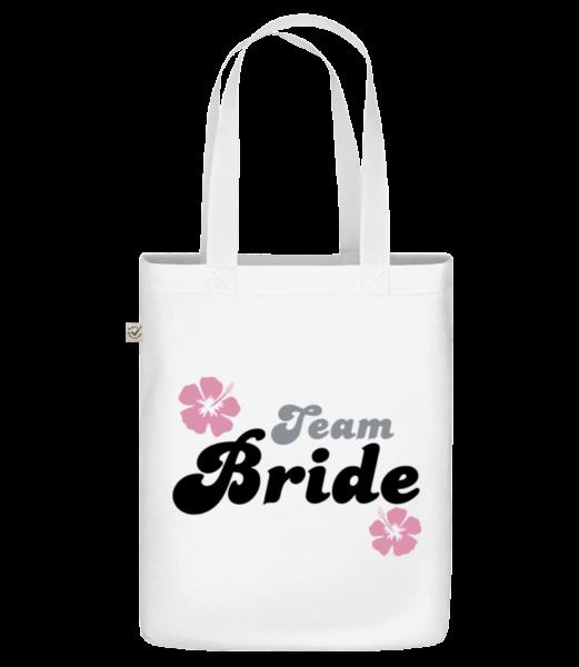 "Team Bride - Organic ""Earth Positive"" tote bag - White - Vorn"