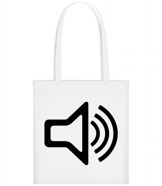 Speaker icon - Carrier Bag - White - Vorn