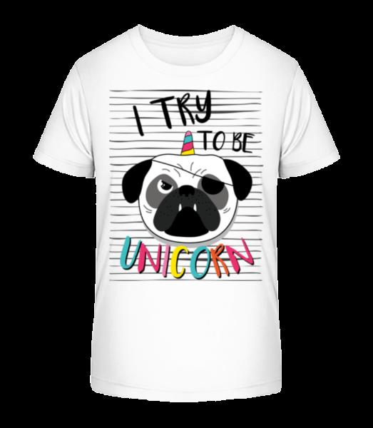 Unicorn Dog - Kid's Premium Bio T-Shirt - White - Vorn