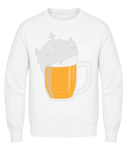 Beer - Classic Set-In Sweatshirt - White - Vorn