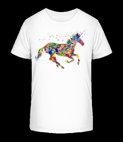 Geometry Unicorn - Kid's Premium Bio T-Shirt - White - Vorn