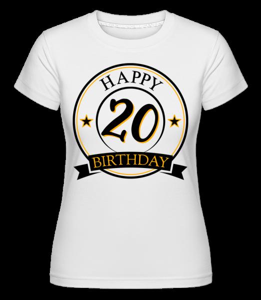 Happy Birthday 20 -  Shirtinator Women's T-Shirt - White - Vorn