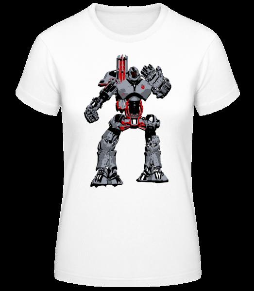 Fighting Robots - Women's Basic T-Shirt - White - Vorn