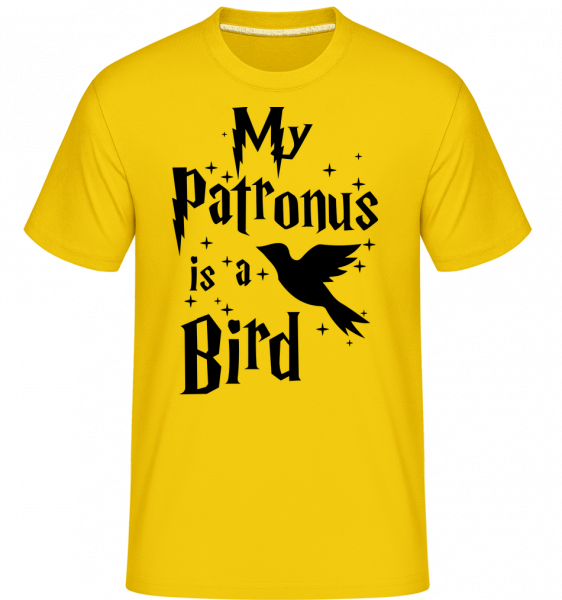 My Patronus Is A Bird -  Shirtinator Men's T-Shirt - Golden yellow - Vorn