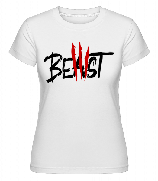 Beast - Shirtinator Women's T-Shirt - White - Vorn