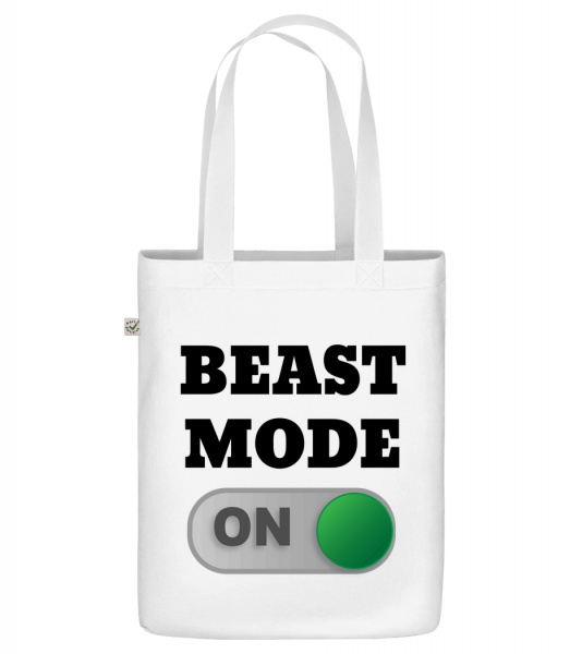 """Beast Mode On - Organic """"Earth Positive"""" tote bag - White - Vorn"""