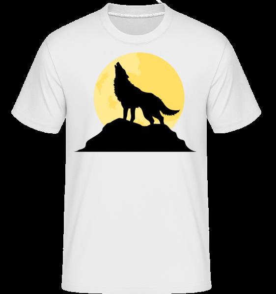 Gothic Wolf Sunset -  Shirtinator Men's T-Shirt - White - Vorn