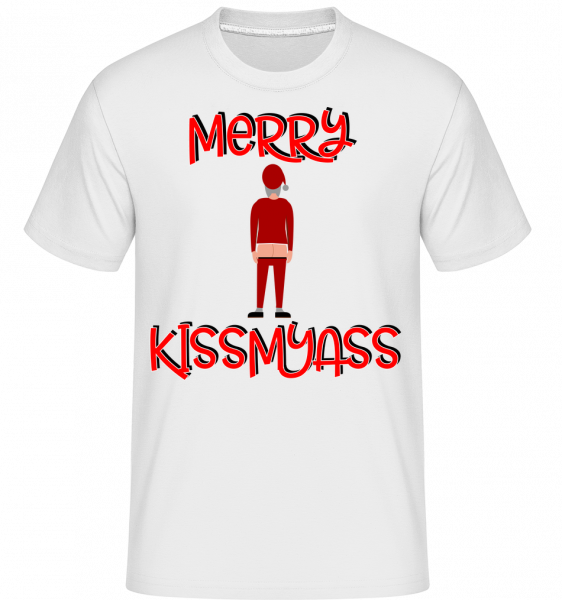 Merry Kissmyass -  Shirtinator Men's T-Shirt - White - Vorn