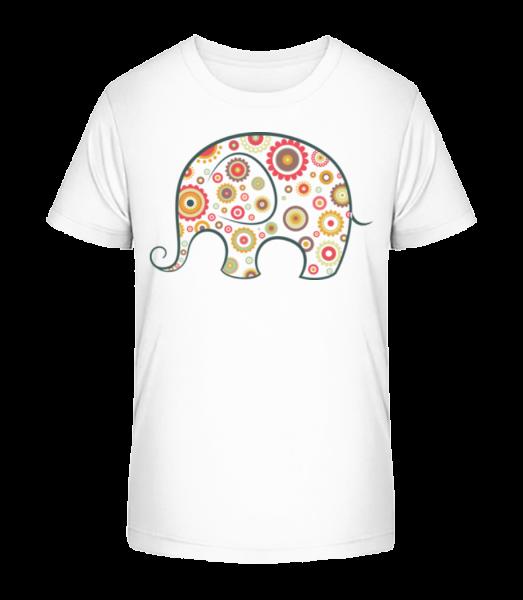 Elephant Kids Comic - Kid's Premium Bio T-Shirt - White - Vorn
