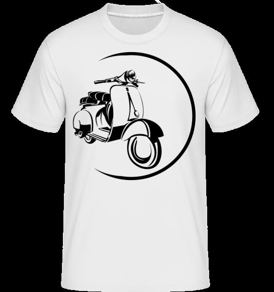 Scooter Icon - Shirtinator Men's T-Shirt - White - Vorn